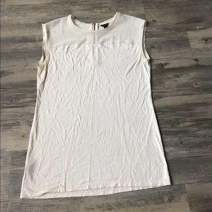 Ann Taylor White Lace Detail Tank Top Size M